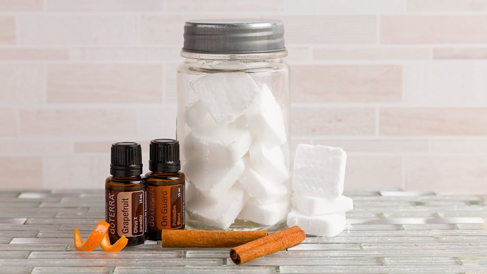 DIY DIshwashwer Tablets using essential oils