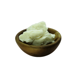 Organic Unrefined Shea Butter in acacia bowl