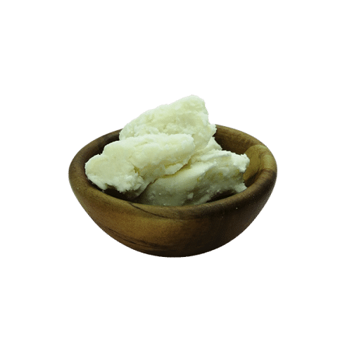 Organic Unrefined Shea Butter in acacia bowl