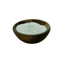 Xanthan Gum in acacia bowl