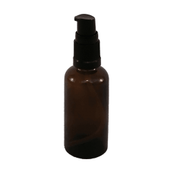 50ml thick amber glass bottle with pump