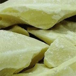 Organic Unrefined Cocoa Butter close up