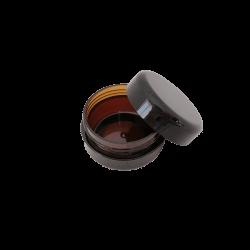 10gm Amber PET Jar with black lid