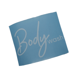 Body Wash White Vinyl Label