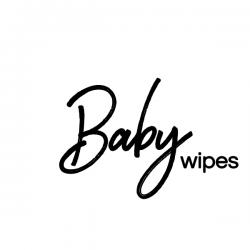 Baby wipes vinyl label