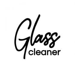 Glass CLeaner VInyl Label