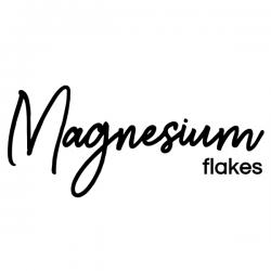 Magnesium Flakes Vinyl Label